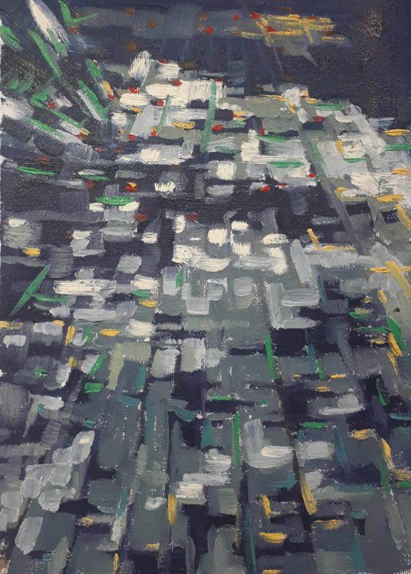 Alyson May - Dappled Light 01, oil on canvas, 26 x 19cm