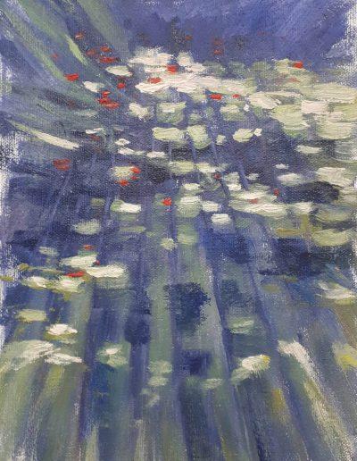 Alyson May - Dappled Light 02, oil on canvas, 26 x 19cm