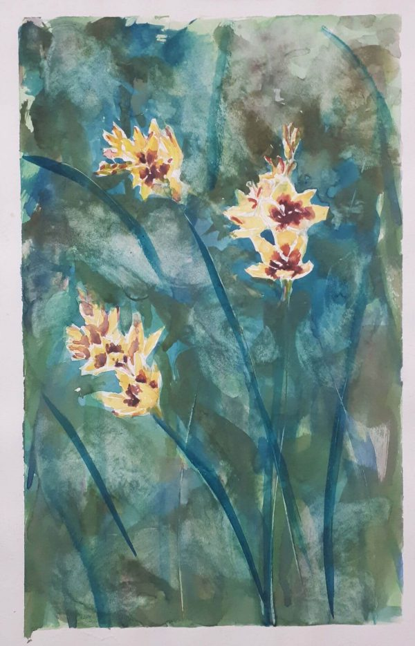 Alyson May - Flowers for You. watercolour on paper, 26 x 16cm