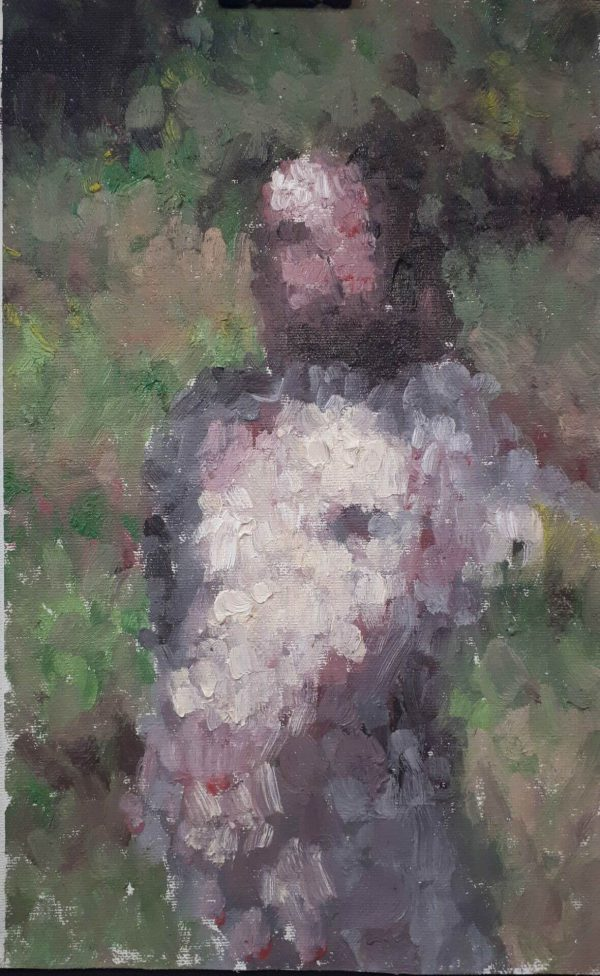 Alyson May - Impression of a Girl, oil on canvas, 30 x 18cm