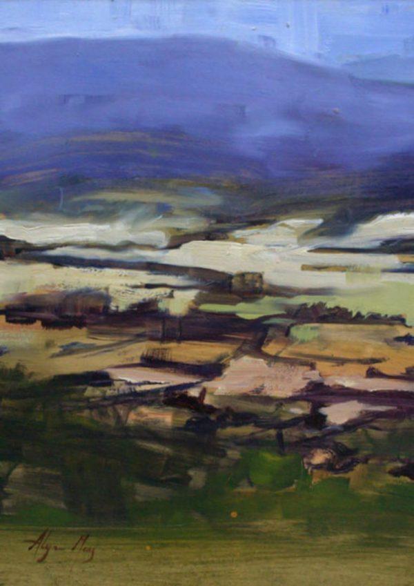 Alyson May - Landscape - Yarra Valley. oil on board, 465w x 575h