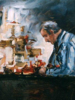 Alyson May - The Cobbler (oil on board)