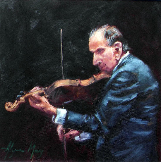Alyson May - Music man (oil on canvas)